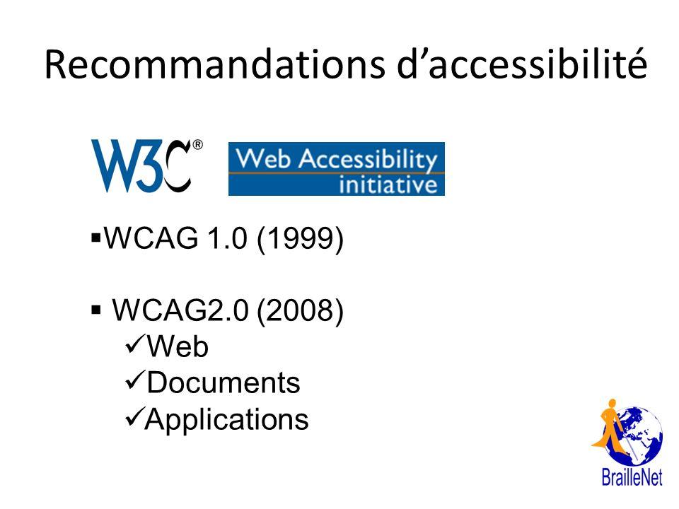 Recommandations d'accessibilité