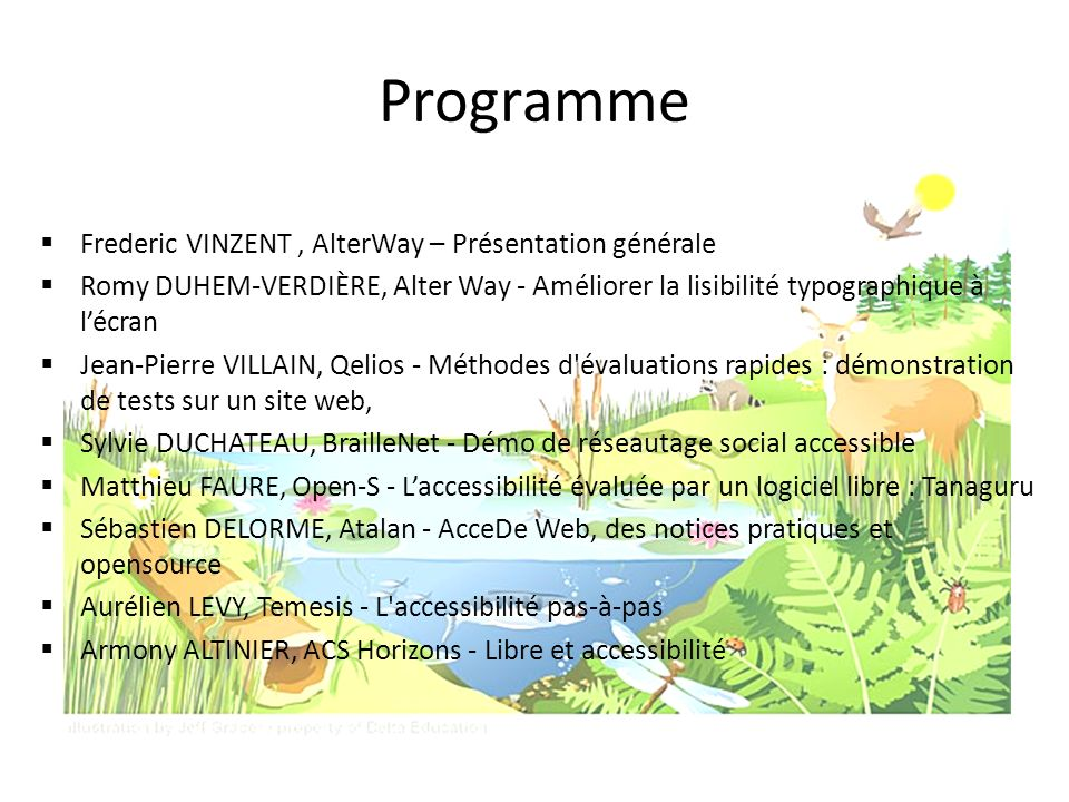 Programme Frederic VINZENT , AlterWay – Présentation générale