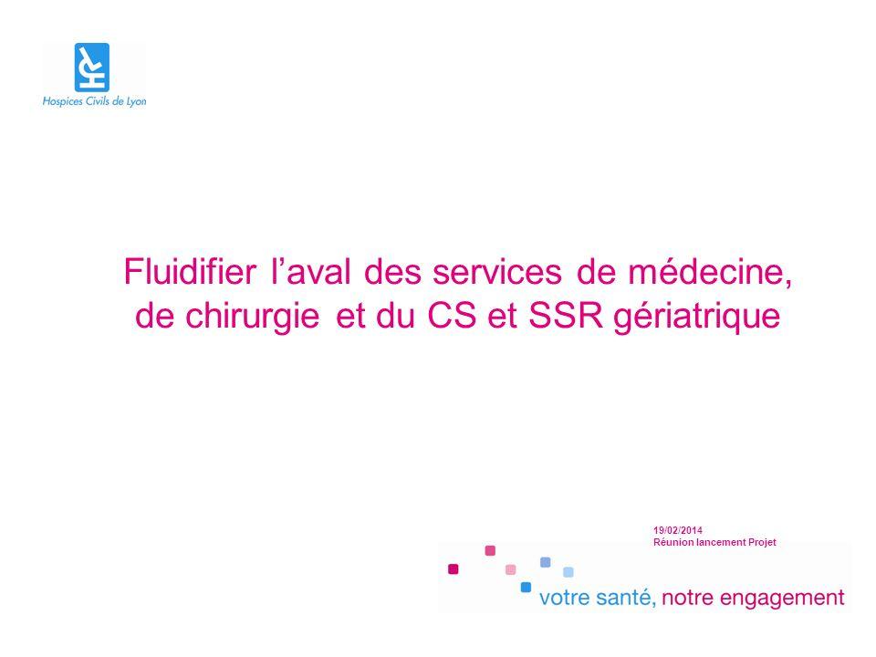 Fluidifier l'aval des services de médecine, de chirurgie et du CS et SSR gériatrique