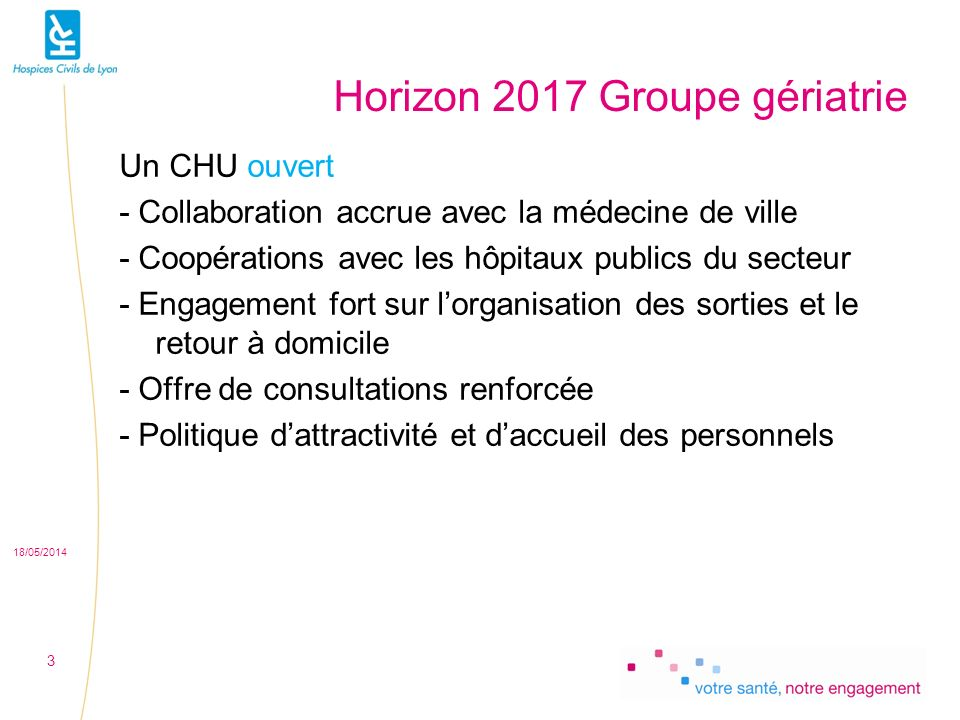 Horizon 2017 Groupe gériatrie