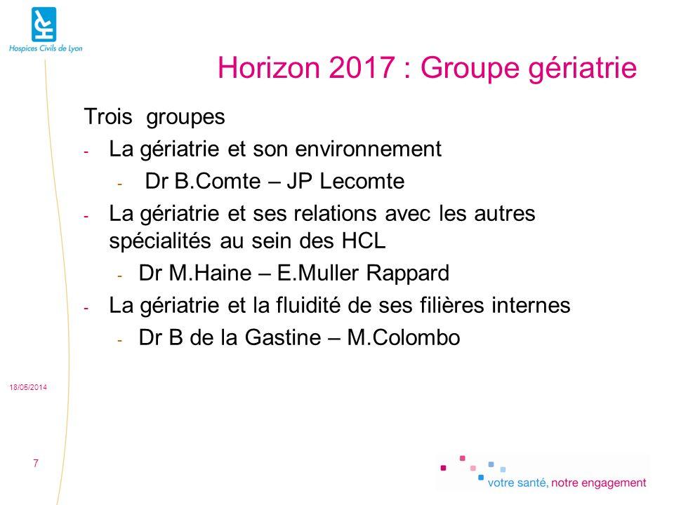Horizon 2017 : Groupe gériatrie