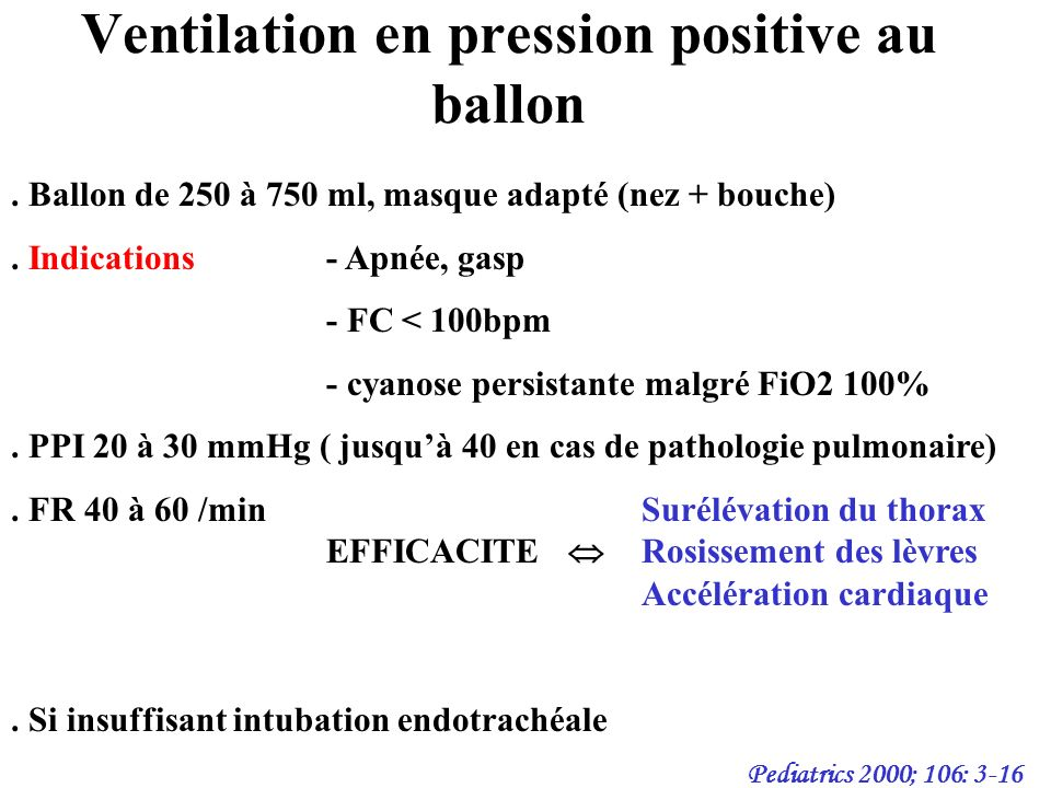 Ventilation en pression positive au ballon