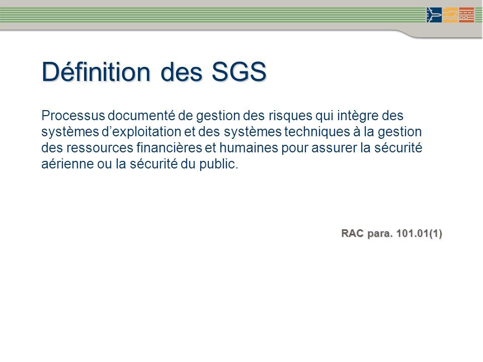 Définition des SGS