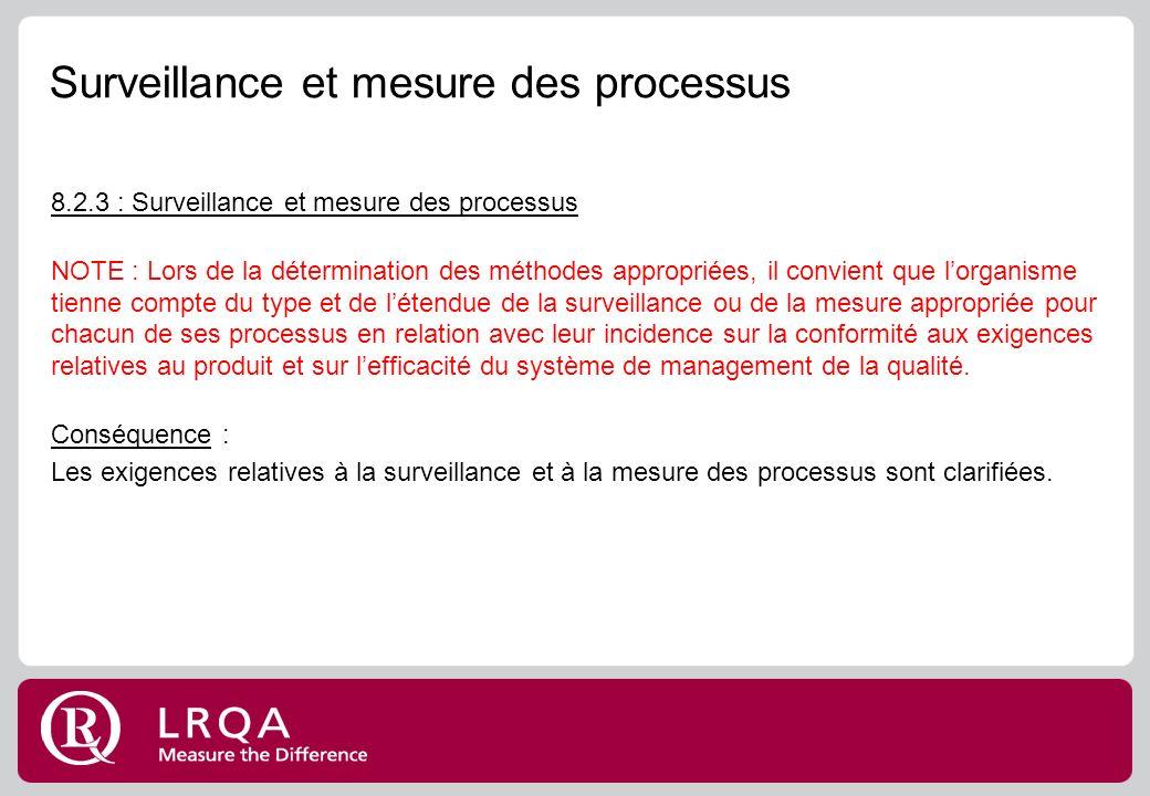 Surveillance et mesure des processus