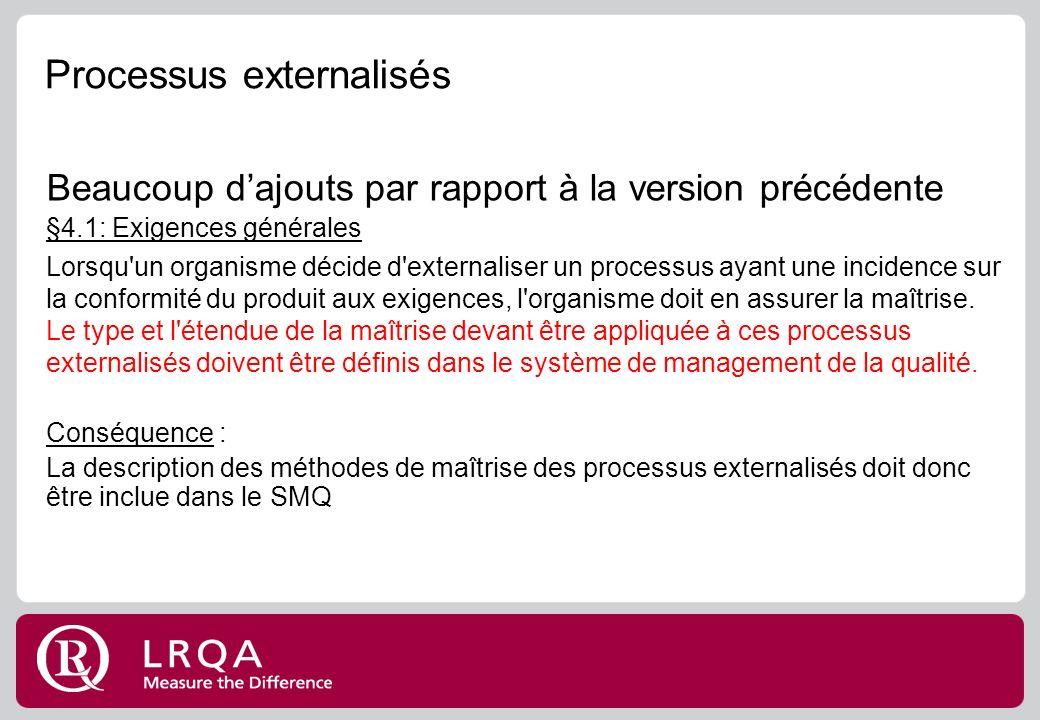 Processus externalisés