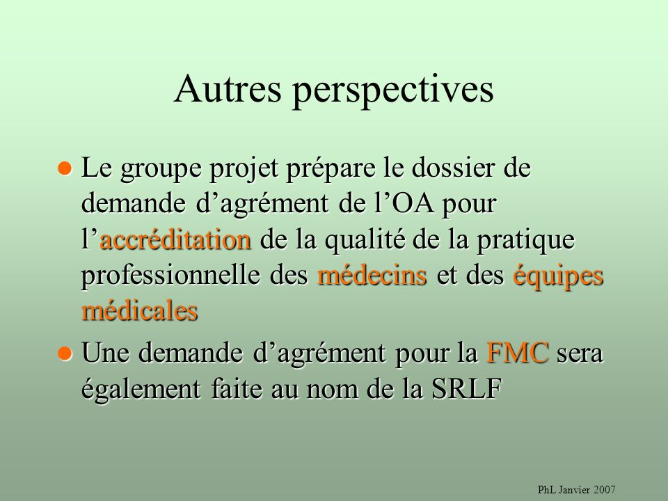 Autres perspectives