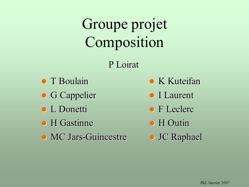 Groupe projet Composition