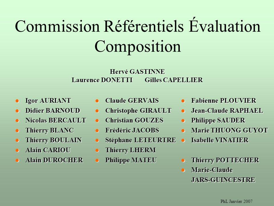 Commission Référentiels Évaluation Composition