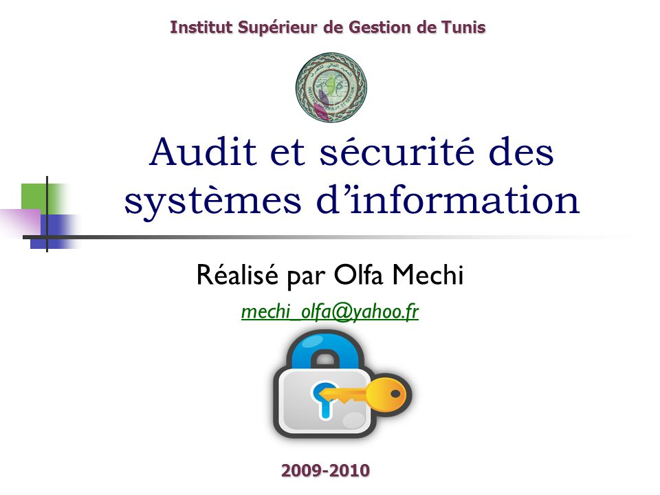 Audit et sécurité des systèmes d'information
