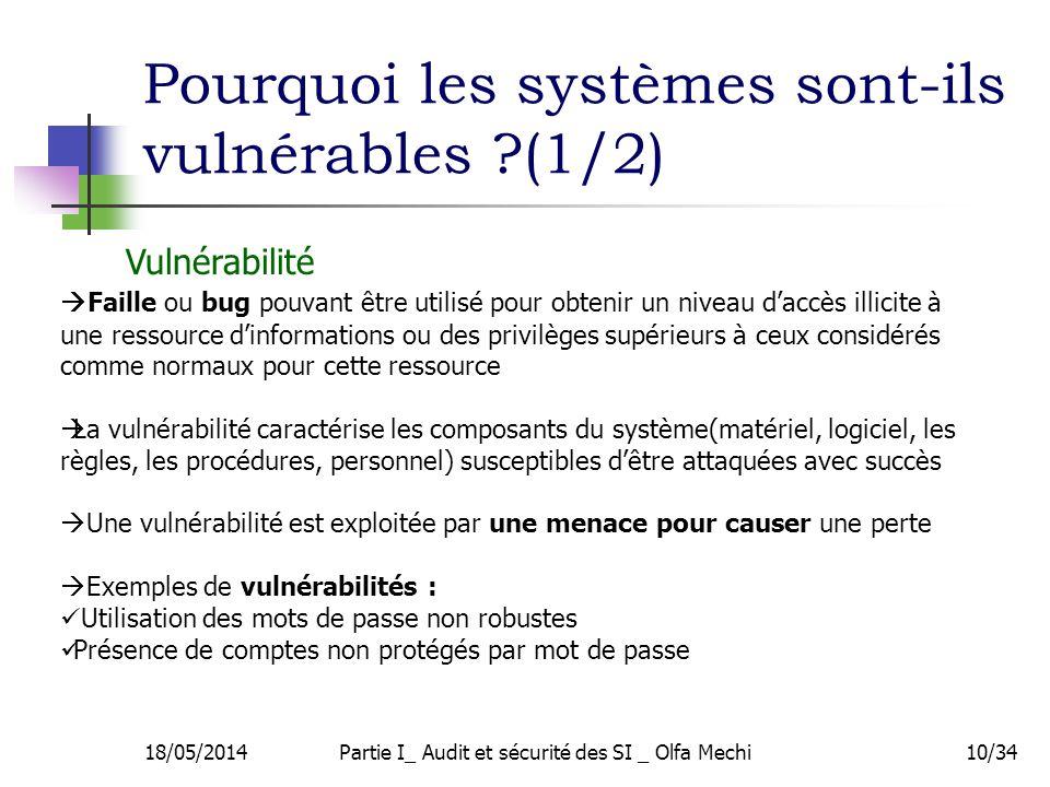 Pourquoi les systèmes sont-ils vulnérables (1/2)