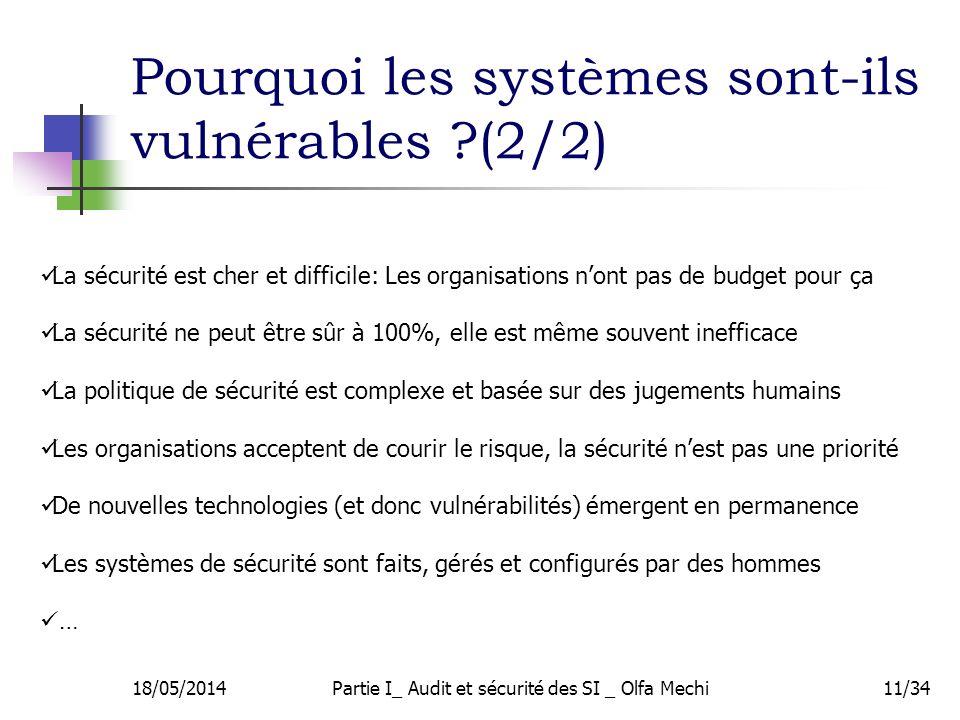 Pourquoi les systèmes sont-ils vulnérables (2/2)