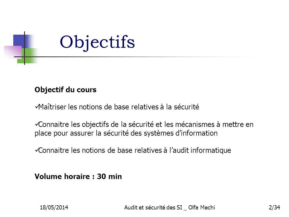 Audit et sécurité des SI _ Olfa Mechi