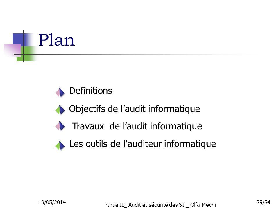 Partie II_ Audit et sécurité des SI _ Olfa Mechi