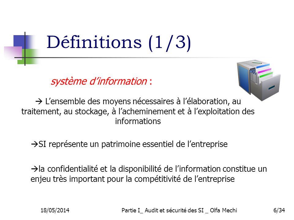 Partie I_ Audit et sécurité des SI _ Olfa Mechi