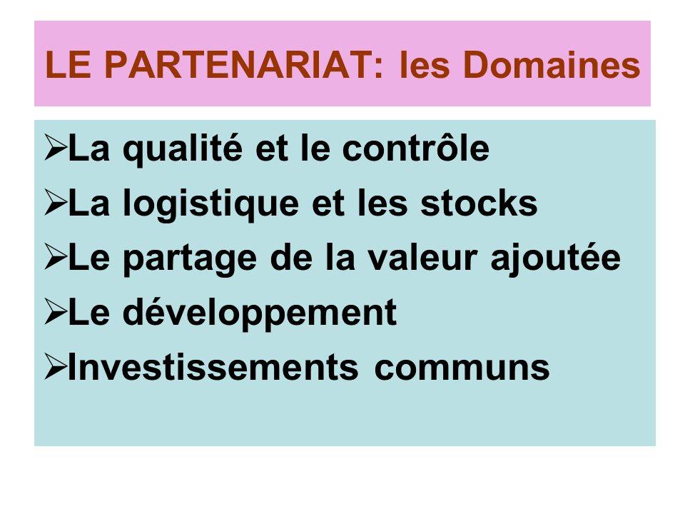 LE PARTENARIAT: les Domaines