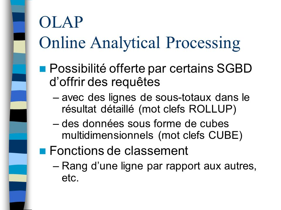 OLAP Online Analytical Processing