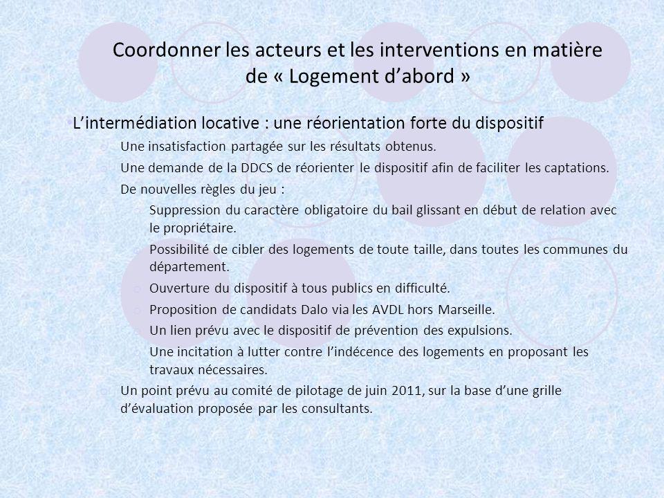 Coordonner les acteurs et les interventions en matière de « Logement d'abord »
