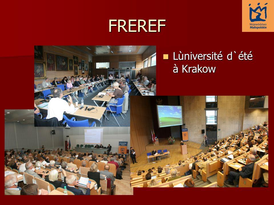 FREREF Lùniversité d`été à Krakow