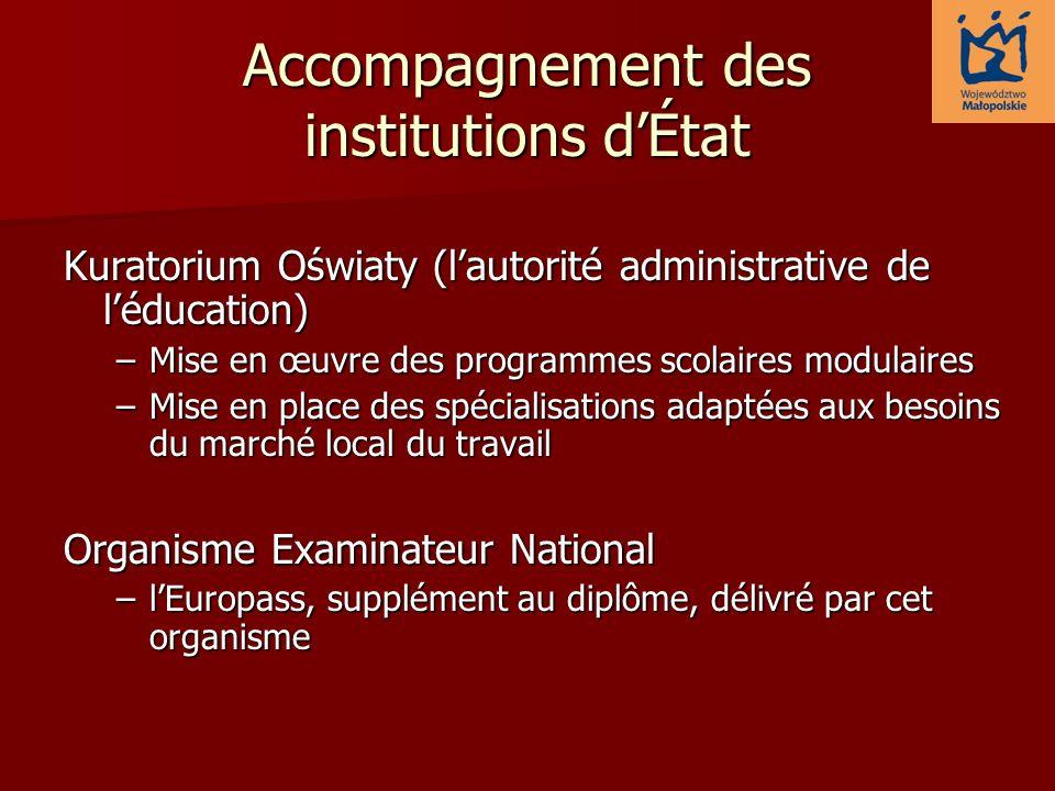 Accompagnement des institutions d'État