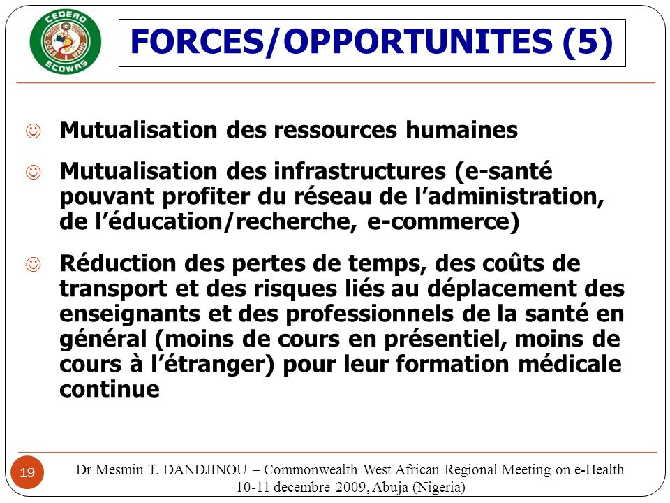 FORCES/OPPORTUNITES (5)