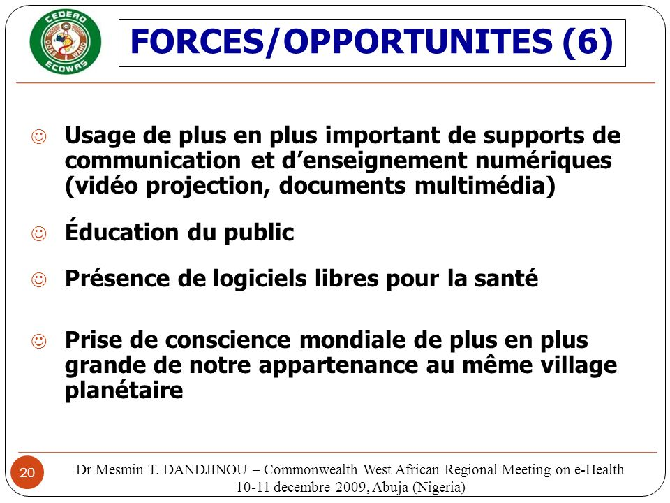 FORCES/OPPORTUNITES (6)
