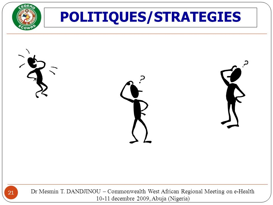 POLITIQUES/STRATEGIES