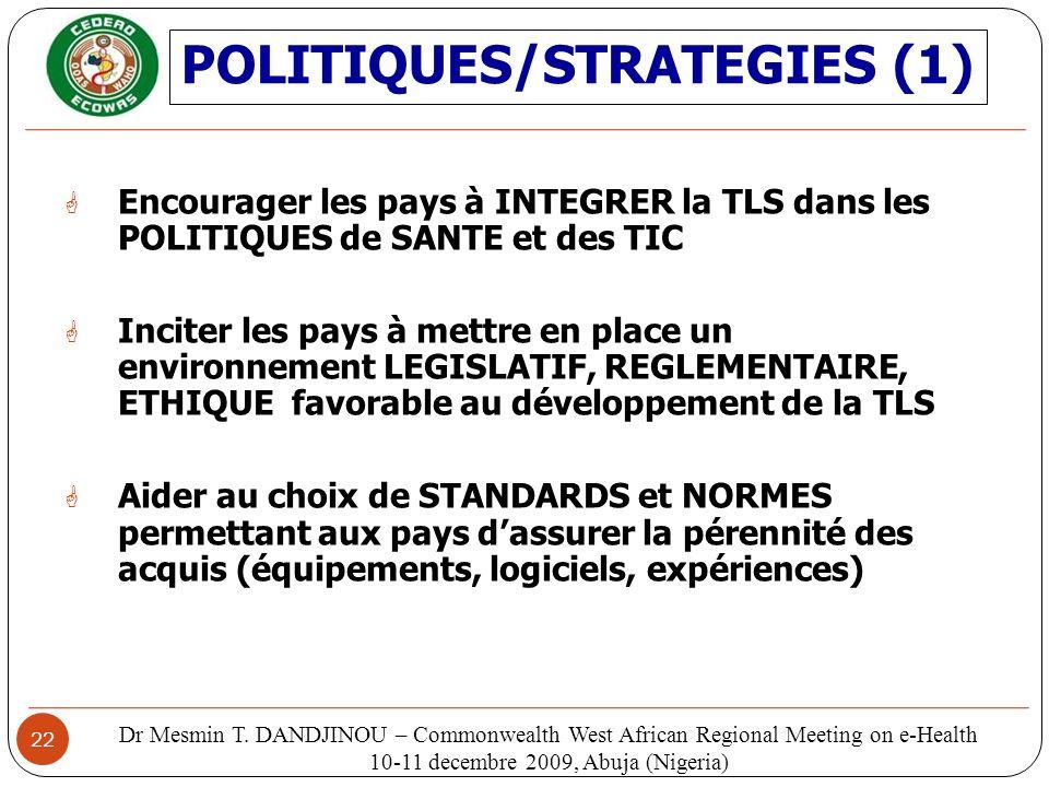POLITIQUES/STRATEGIES (1)