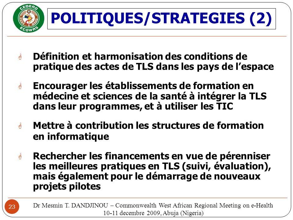 POLITIQUES/STRATEGIES (2)