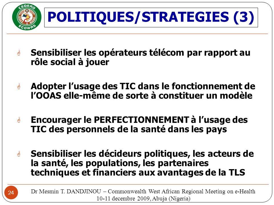 POLITIQUES/STRATEGIES (3)