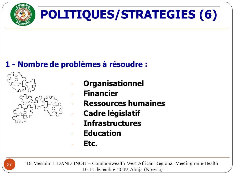 POLITIQUES/STRATEGIES (6)