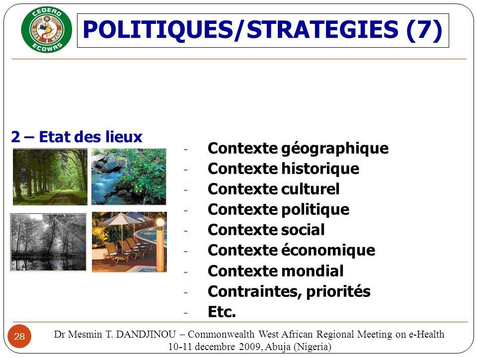 POLITIQUES/STRATEGIES (7)
