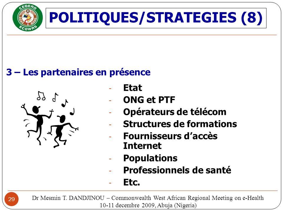 POLITIQUES/STRATEGIES (8)