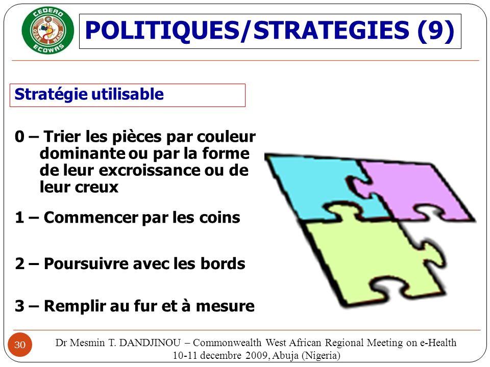 POLITIQUES/STRATEGIES (9)