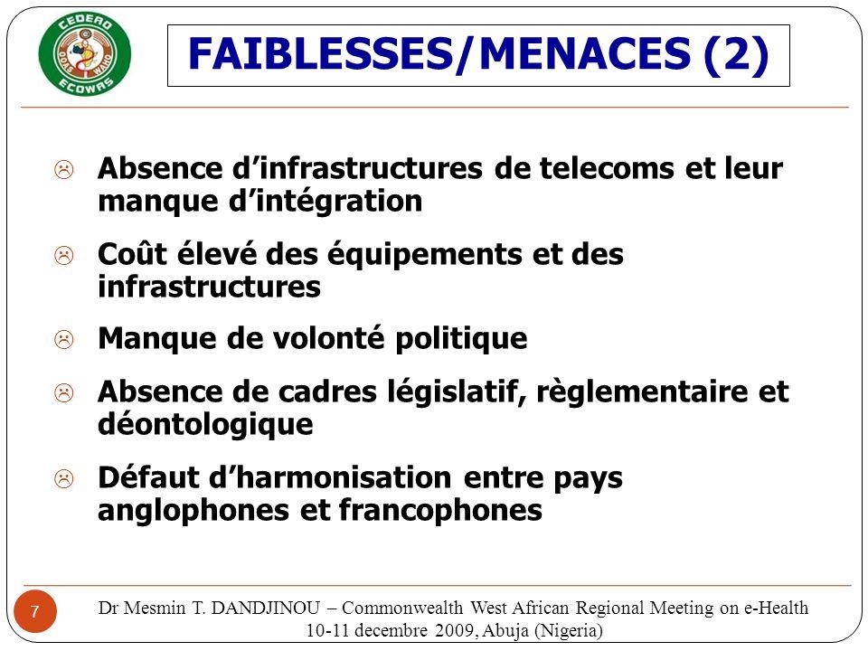 FAIBLESSES/MENACES (2)