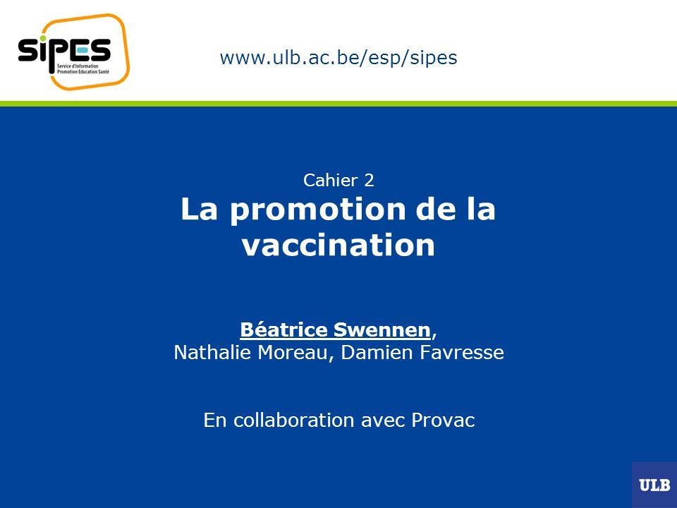 Cahier 2 La promotion de la vaccination