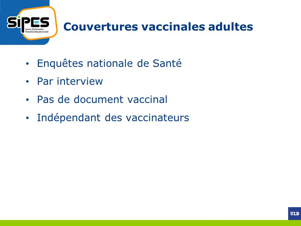 Couvertures vaccinales adultes