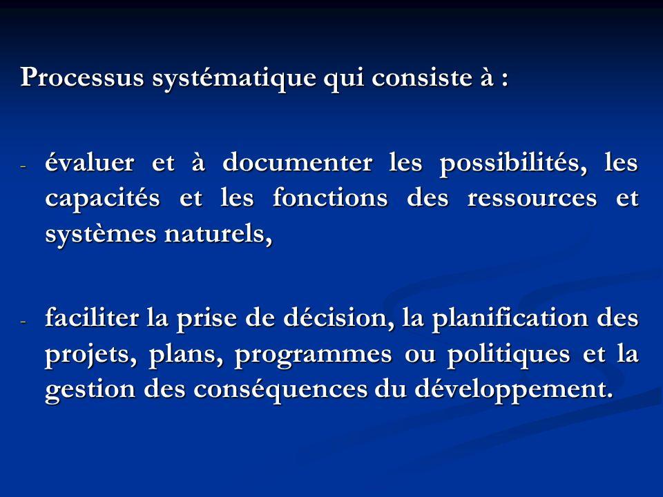 Processus systématique qui consiste à :