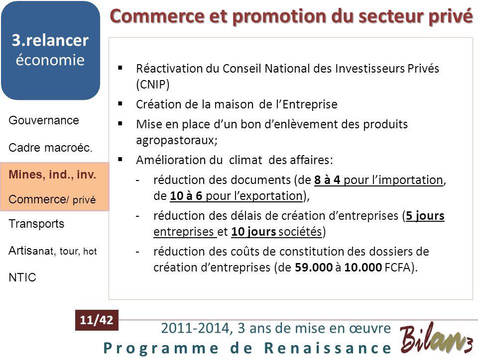 Commerce et promotion du secteur privé