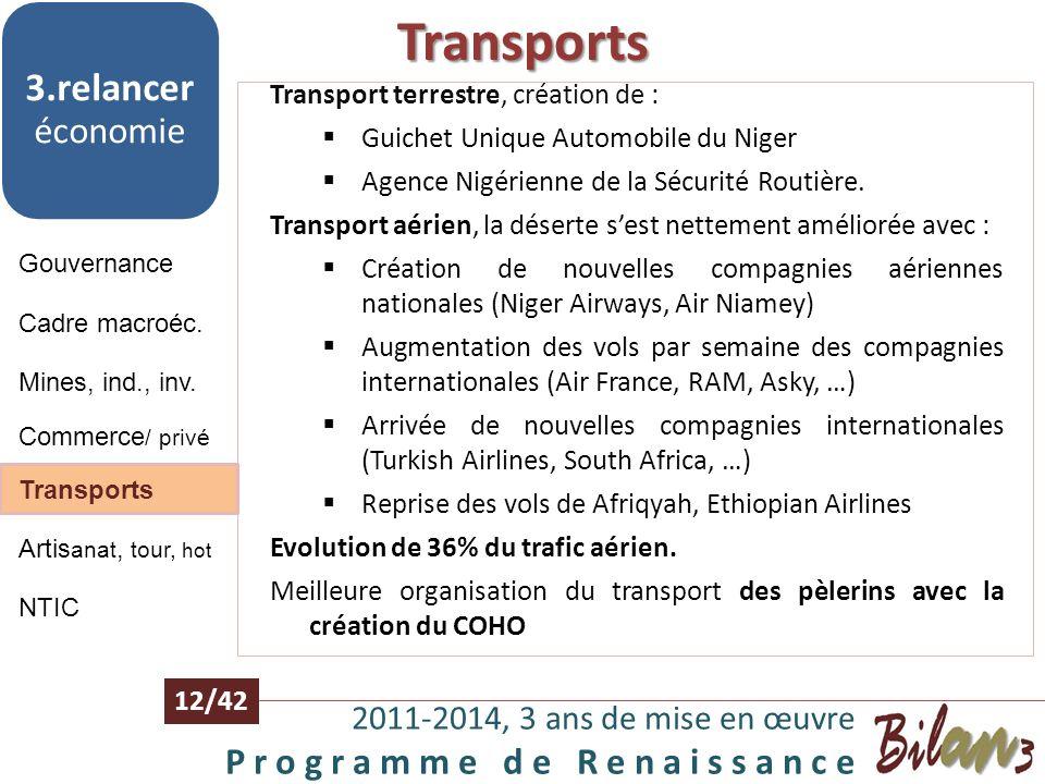 Transports 3.relancer économie