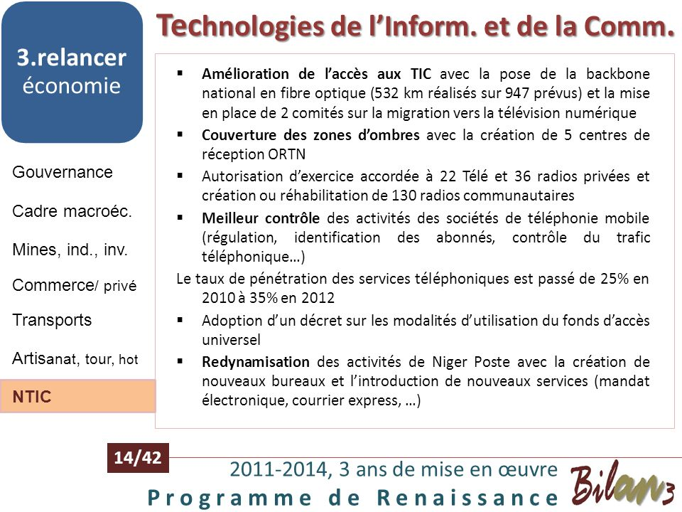 Technologies de l'Inform. et de la Comm.