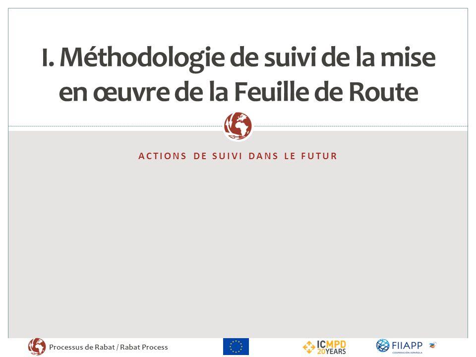 I. Méthodologie de suivi de la mise en œuvre de la Feuille de Route