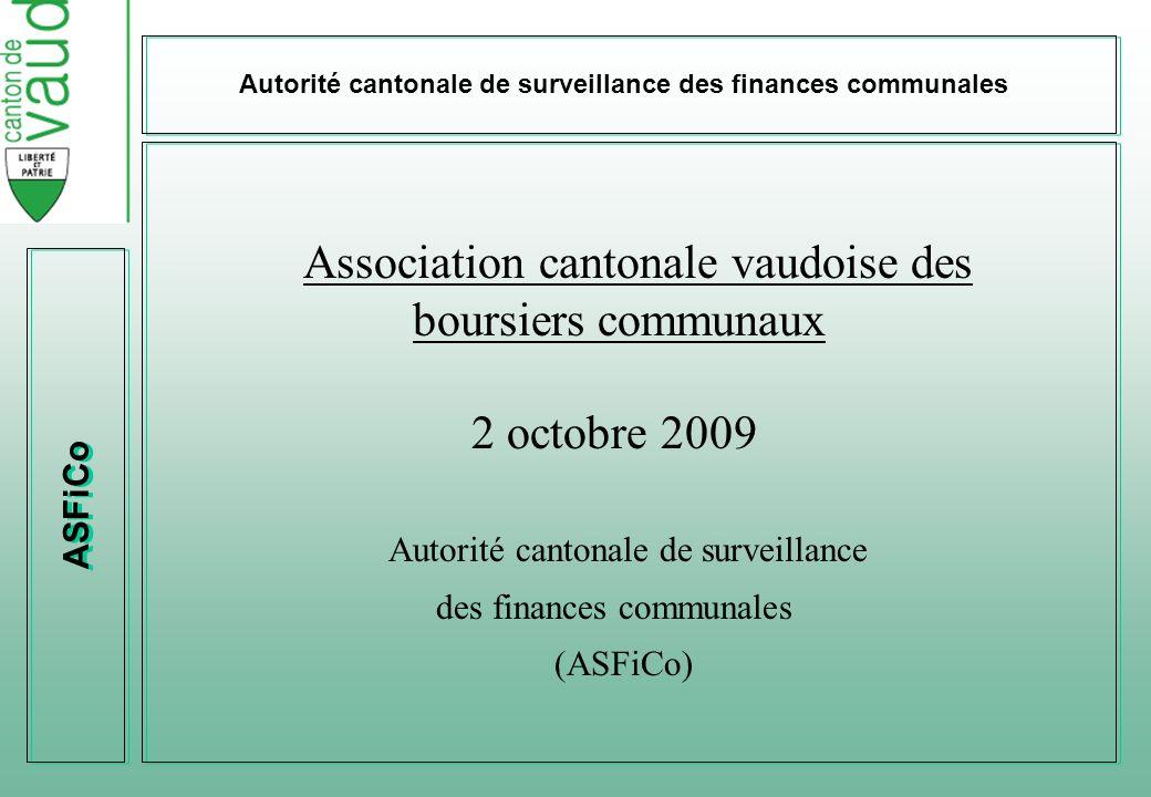 Association cantonale vaudoise des boursiers communaux 2 octobre 2009