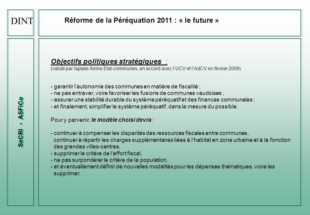 DINT Réforme de la Péréquation 2011 : « le future »