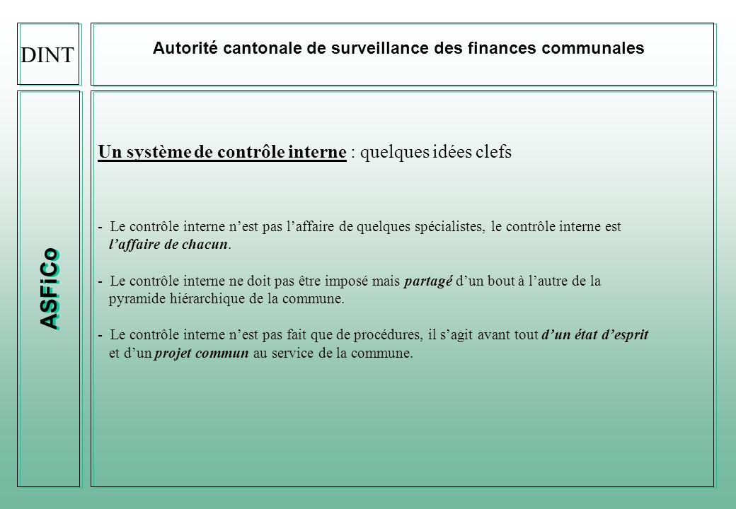 DINT ASFiCo Un système de contrôle interne : quelques idées clefs