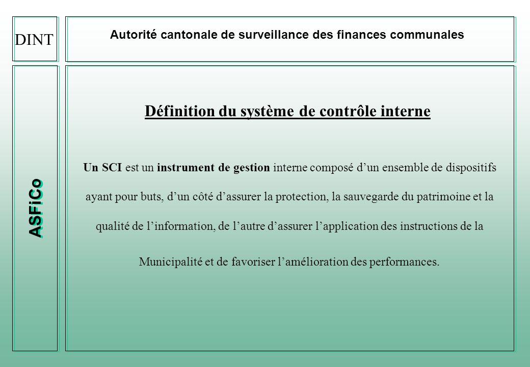 Définition du système de contrôle interne