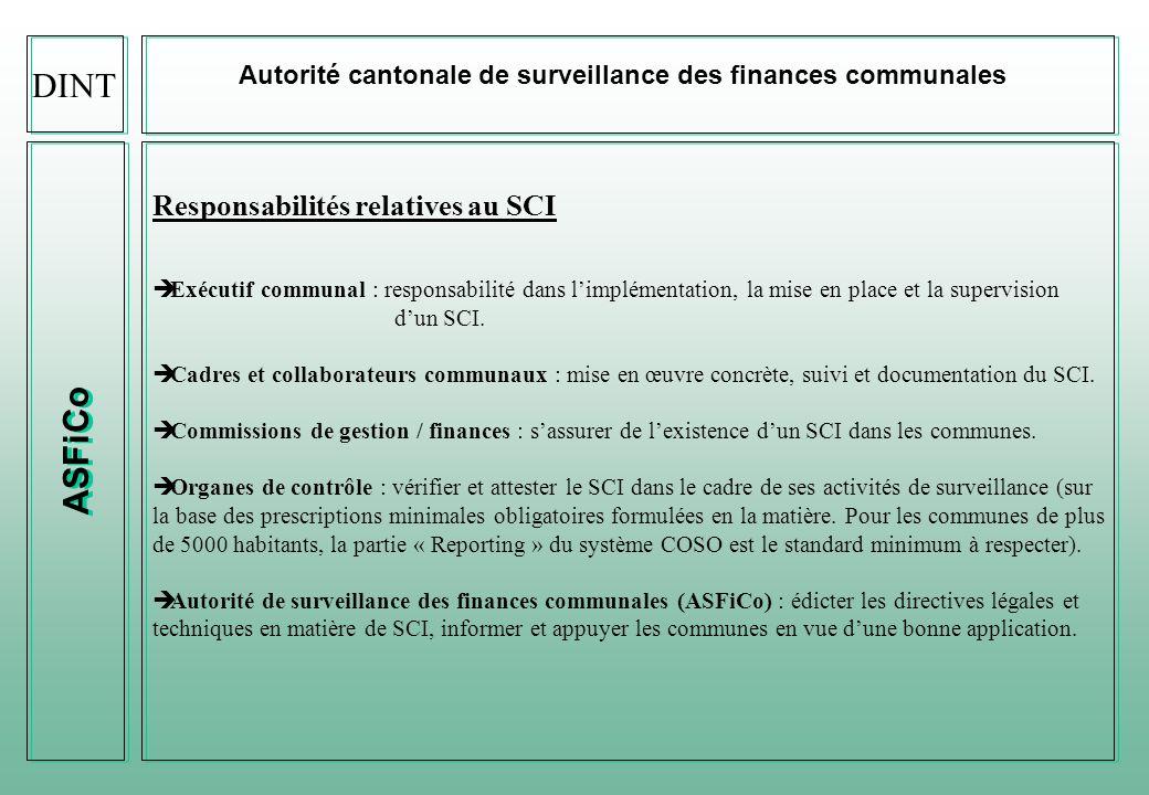 DINT ASFiCo Responsabilités relatives au SCI