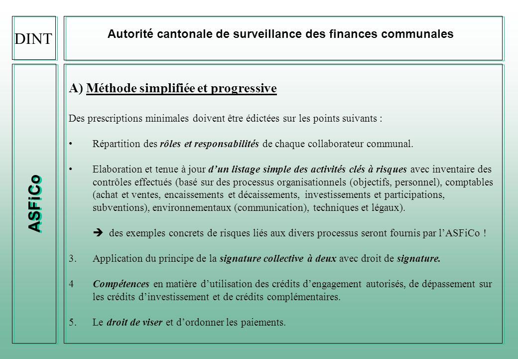 DINT ASFiCo A) Méthode simplifiée et progressive