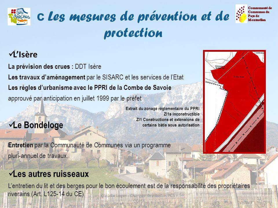 c Les mesures de prévention et de protection