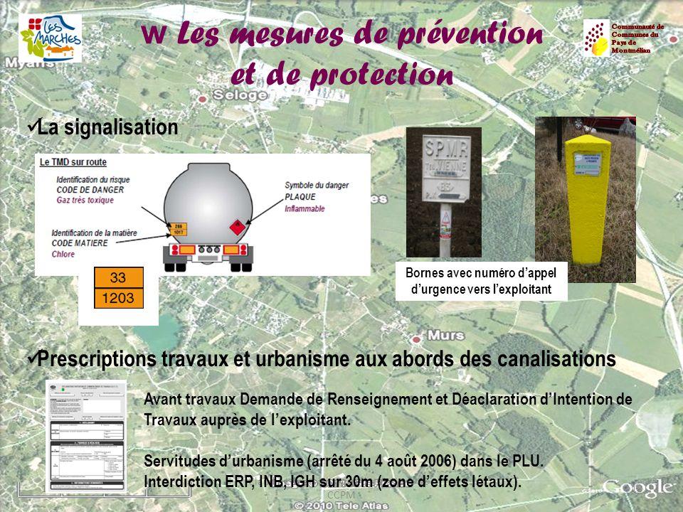 w Les mesures de prévention et de protection