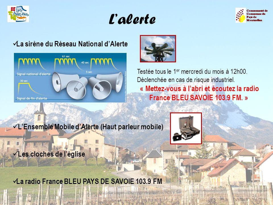 L'alerte La sirène du Réseau National d'Alerte